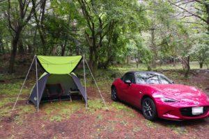 オープンカーでもキャンプがしたい!初のソロキャンプにロードスターで行ってみた!